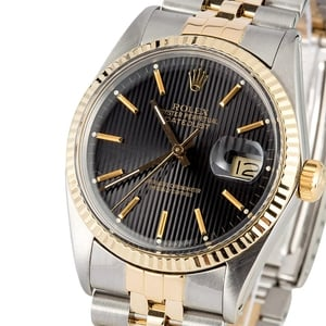 Rolex Datejust 16013 Black Tapestry Dial