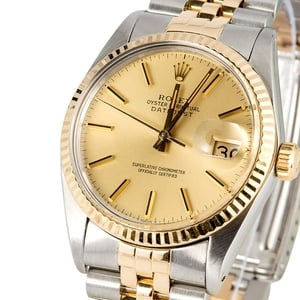 Rolex Champagne Datejust 16013 Certified Pre-Owned