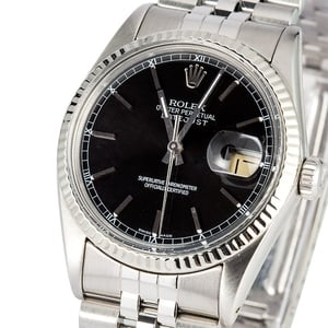Rolex Datejust 16014 Black Index Dial