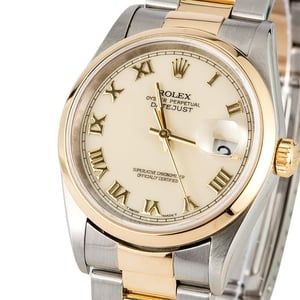 Rolex Datejust 16203 Ivory Roman Dial