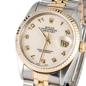 Rolex Datejust 16233 Ivory Jubilee Dial