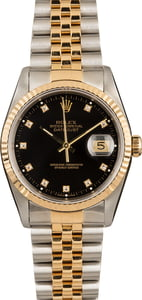 Rolex Datejust Black Diamond Dial 16233