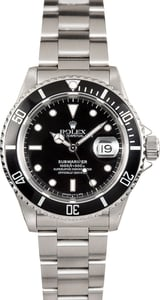 Rolex 16610 Black Submariner Stainless Steel 40MM
