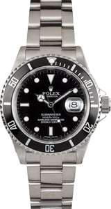 Rolex Oyster Perpetual Submariner No Holes 16610
