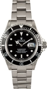 Rolex Black 16610 Submariner Men's Watch