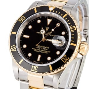 Rolex Submariner 16613 Black Bezel