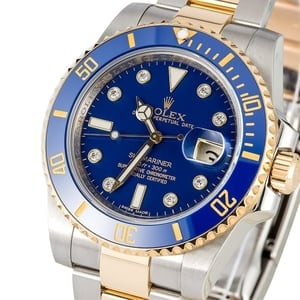 Rolex Submariner 116613 Blue Dial with Diamonds