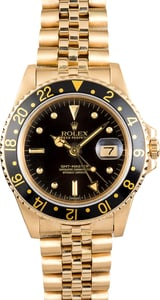 Rolex 18K GMT-Master 16758 Yellow Gold
