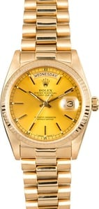 Rolex 18K Yellow Gold Day-Date 18038