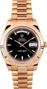 Rolex Rose Gold President Day Date II T