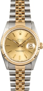 Rolex 36MM Datejust 16233 Champagne