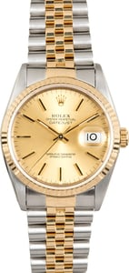 Rolex 36MM Two-Tone Datejust 16233 Jubilee
