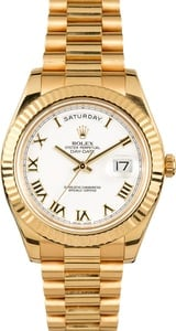 Rolex 41MM Day-Date 218238 White