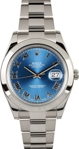 Rolex Datejust 41mm 116300 Blue Roman