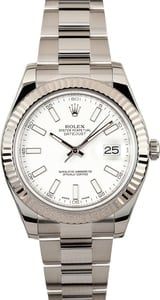 Rolex Datejust II Ref 116334 White Dial 41MM