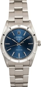 Pre Owned Rolex Air-King Stainless Steel Blue Dial 14010M