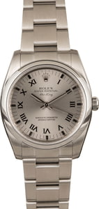 Pre Owned Rolex Air-King 114200 Silver Roman Dial