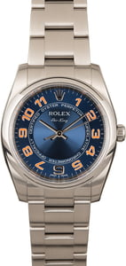 PreOwned Rolex Air King 114200 Blue Concentric Dial