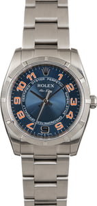 Used Rolex Air-King 114210 Blue Concentric Dial