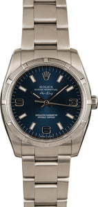 Pre-Owned Rolex Air King 114210 Blue Dial