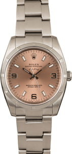 Pre-Owned Rolex Air King 114210 Pink Dial