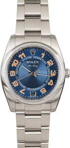 Rolex Air-King 114200 Blue Concentric Arabic Dial