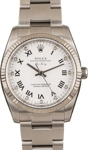 Pre-Owned Rolex Air-King 114234 White Diamond Dial