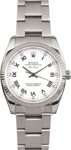 Rolex Air-King 114234 White Diamond Dial