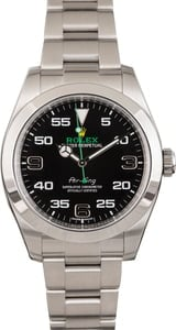 PreOwned Rolex Steel Air-King 116900 Black Arabic Dial