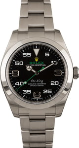 Pre-Owned Rolex Air-King 116900 Black Dial 40MM