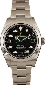 Certified Rolex Air-King 116900 Arabic Markers