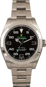 Pre-Owned Rolex Air-King 116900 Arabic Dial Watch