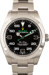 Pre-Owned Rolex Air-King 116900 Smooth Bezel