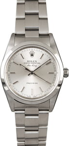 Pre-Owned Rolex Air King 14000 Silver Dial