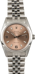 Rolex Air-King 14000 Salmon Dial with Steel Jubilee