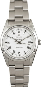 Pre Owned Air-King Rolex 14000 White Dial