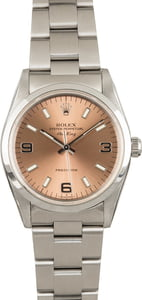 Rolex Air-King 14000 Salmon Index Dial