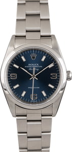 Rolex Air-King 14000 Blue Dial Stainless Steel Oyster