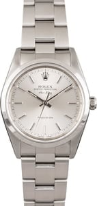 Pre-Owned Rolex Air King 14000 Silver Index Dial