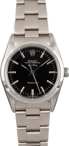 PreOwned Rolex AirKing Steel 14000 Black Dial