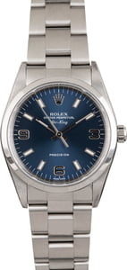 PreOwned Rolex Air-King 14000 Blue Dial Oyster Perpetual