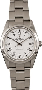 Pre Owned Rolex Air-King 14000 White Roman Dial