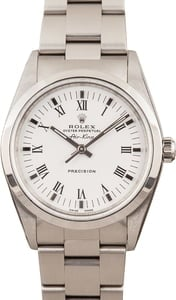 Pre-Owned Rolex Air King 14000M White Roman Dial