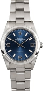 Rolex Air-King 14000 Blue Dial Oyster