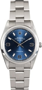 Rolex Air-King 14000 Blue Dial Stainless Oyster