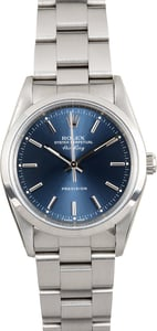 Rolex Air-King 14000 Blue Index