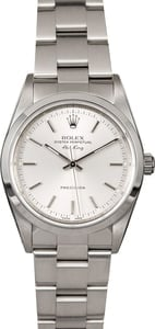 Rolex Air King 14000M Silver Index Dial