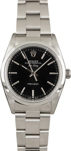 Pre-Owned Rolex Air-King 14000M Black Dial