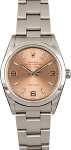 Used Rolex Air King 14000M Salmon Dial