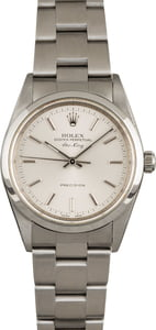 Used Rolex Air-King 14000M Silver Index Dial